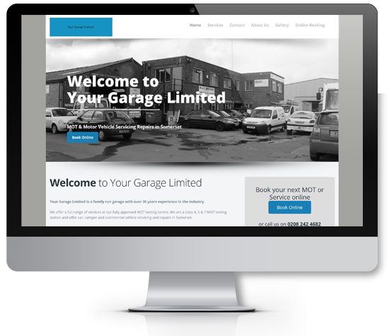 Motor Trade Website Design