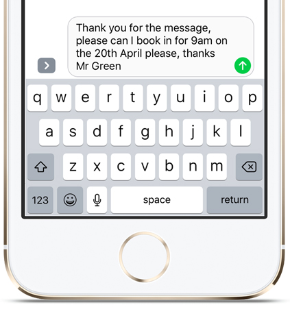 Text Message Reply Functionality