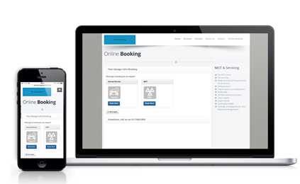 Online Booking - Macbook and iPhone